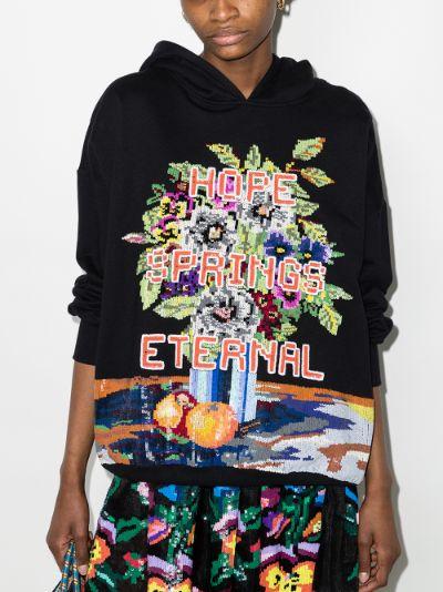 Hope Spring Eternal sequin hoodie
