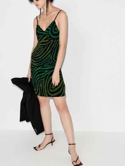 zebra sequinned mini dress
