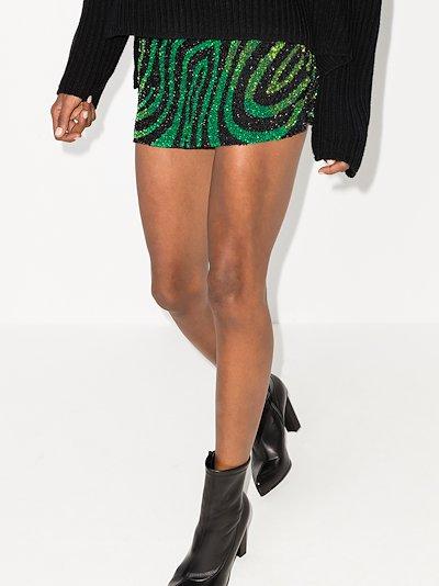 zebra sequinned mini skirt