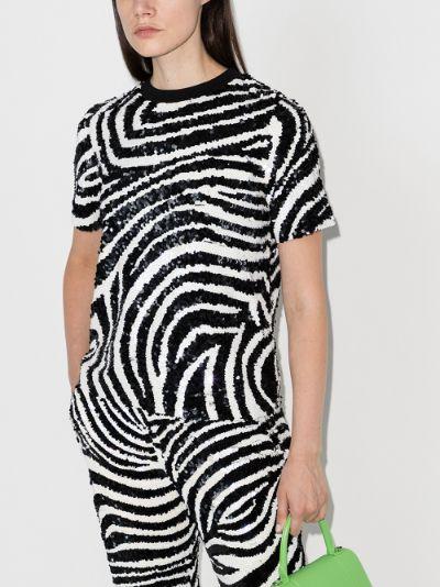 zebra sequinned T-shirt