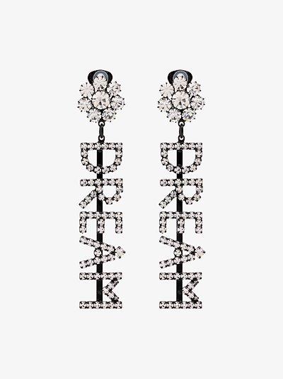 silver tone Dream crystal earrings