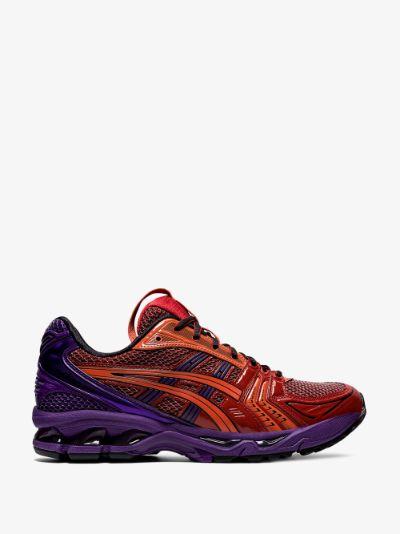 Red and Purple Gel-Kayano 14 Sneakers