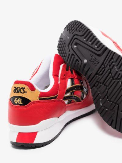 red Gel-Lyte III leather sneakers