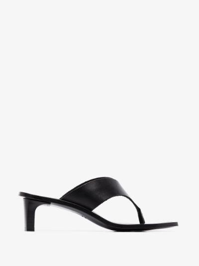 black Apricena 45 leather sandals