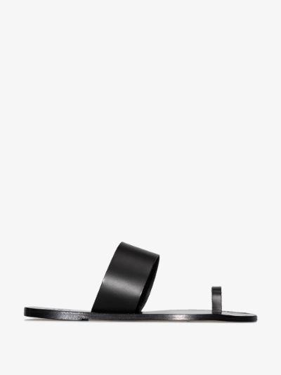 black Astrid leather sandals