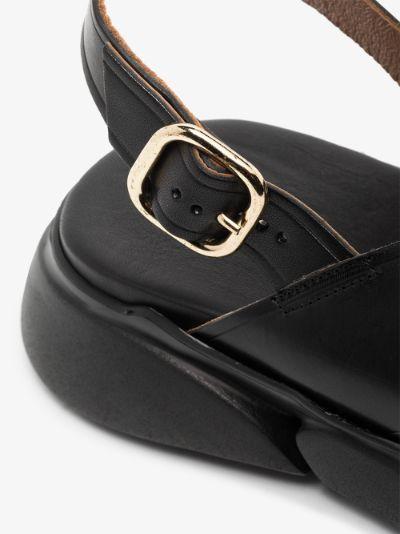 black Barisci flatform leather sandals