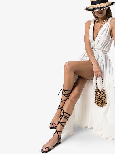 black Candela leather sandals