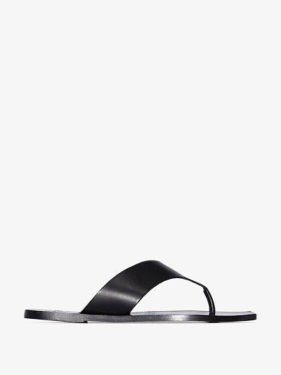 Black Castro leather sandals