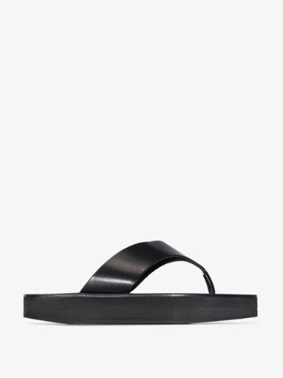 black Melitto leather sandals