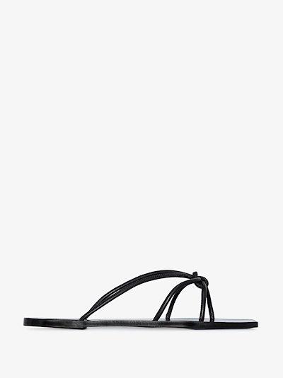black Panni leather sandals