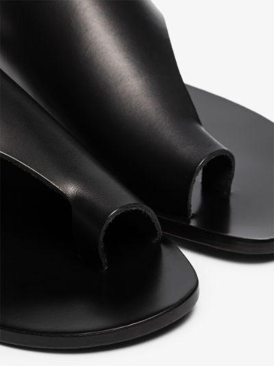 black Rosa leather sandals