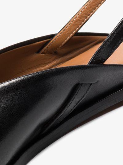 Black Tressanti Leather Slingback Pumps