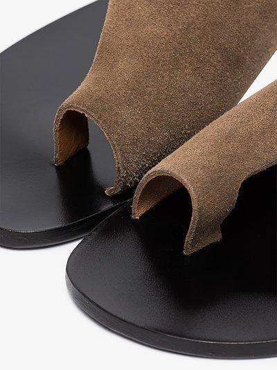 Brown Rosa suede sandals