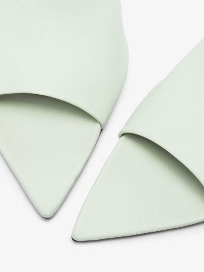 Green Serranova 60 Leather Mules