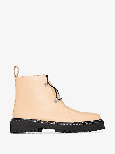neutral cozzana chunky boots