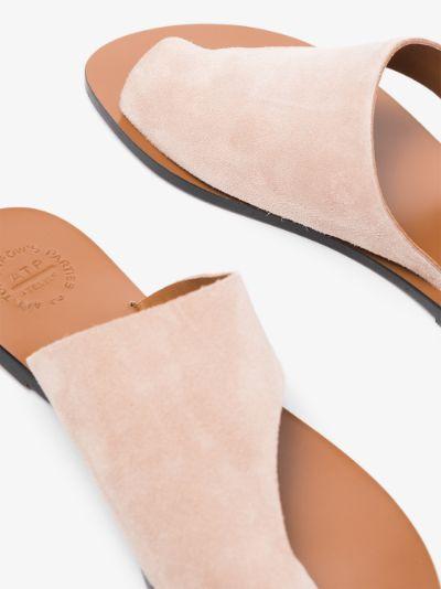 neutral Rosa cutout leather sandals
