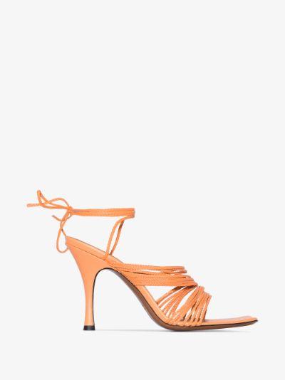 orange Manaccora 85 leather sandals