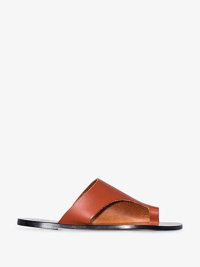 orange Rosa leather sandals