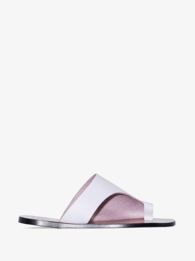 purple Rosa cutout leather sandals
