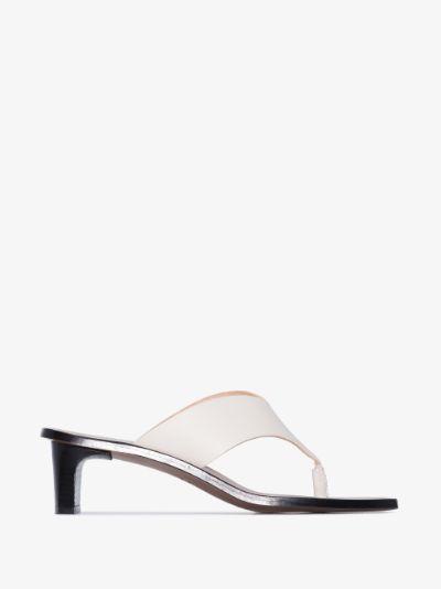 white Apricena 45 leather sandals