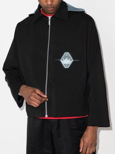 detachable hood military jacket