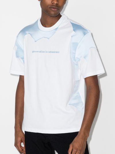 panelled logo T-shirt