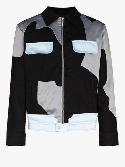 panelled military jacket