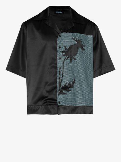 thistle panelled shirt