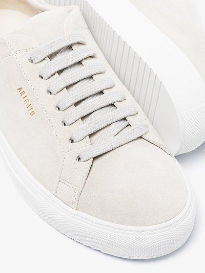 beige Clean 90 suede sneakers