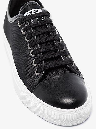 black Cap Toe low top sneakers