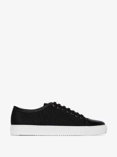 black Cap Toe Reinvented low top sneakers