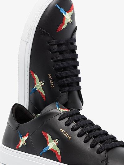 Black Clean 90 Bird leather sneakers