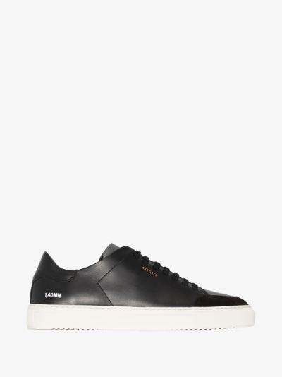 black Clean 90 leather low top sneakers