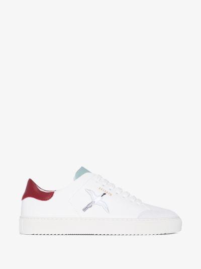 white clean 90 triple bee bird sneakers