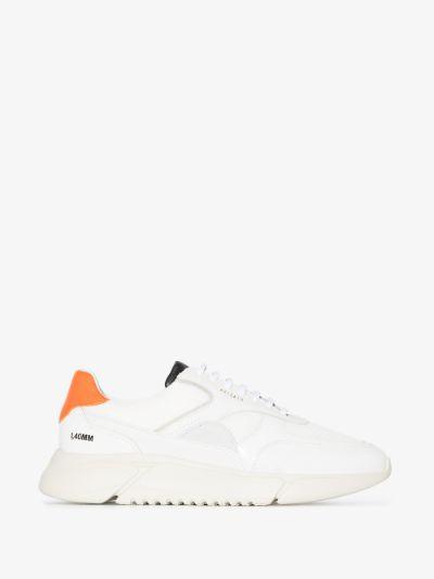 White Genesis Triple Leather Sneakers