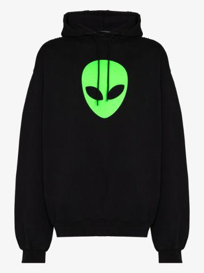 Alien oversized cotton hoodie