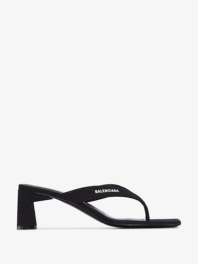 black double square 60 sandals