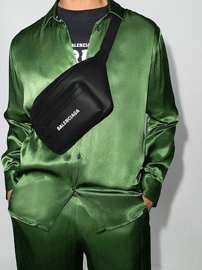 Black Everyday leather belt bag