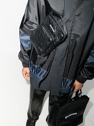 Black Explorer leather cross body bag