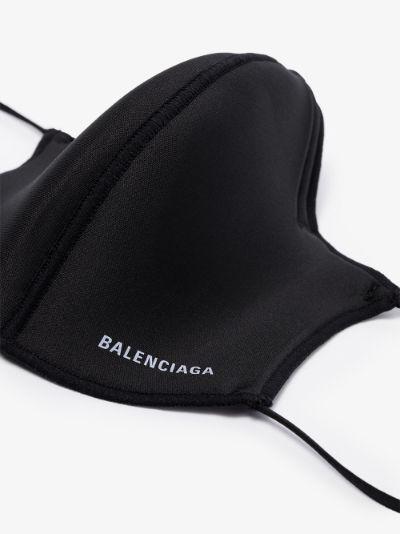 black neoprene logo face mask