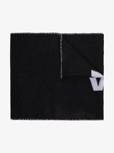 black reversible logo scarf