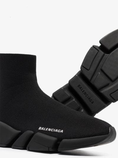 black Speed 2.0 knit sneakers