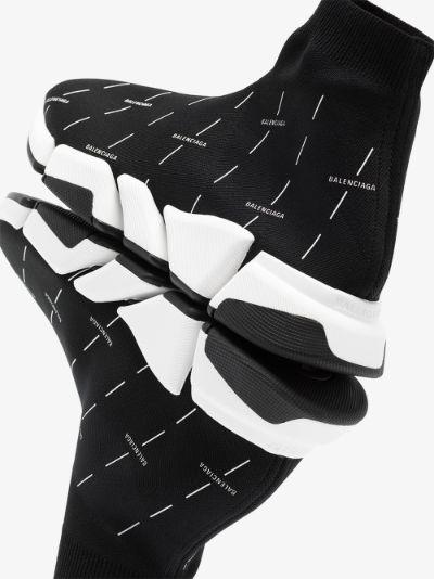 Black Speed 2.0 Logo Print Sneakers