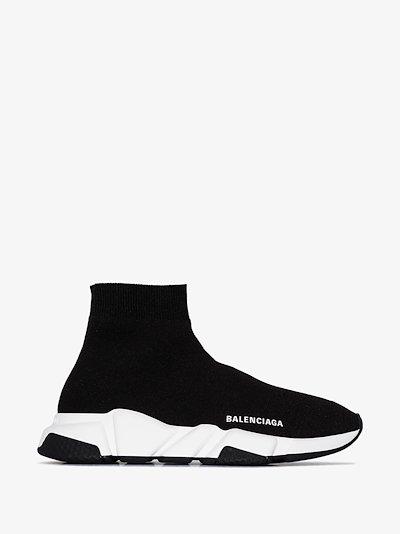 black Speed sock sneakers