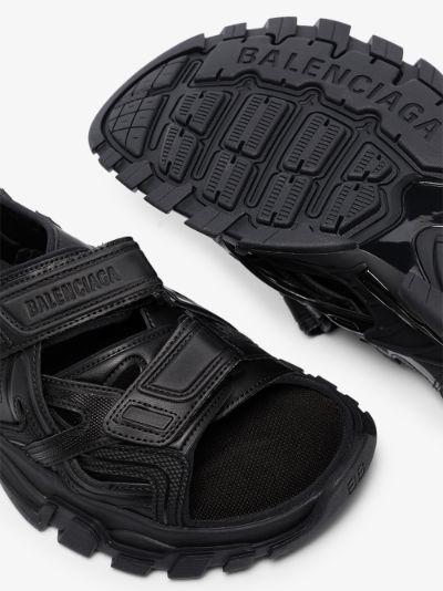 black Track hiking sandals