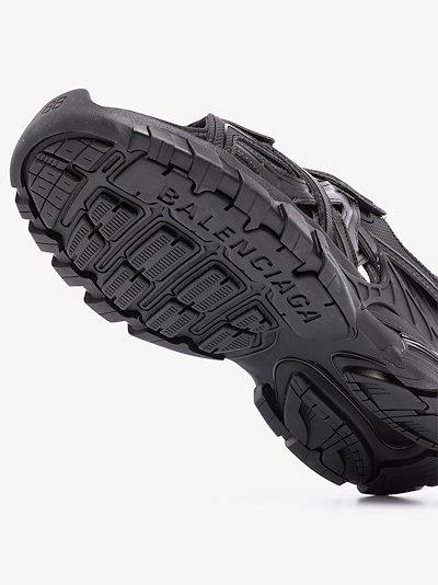 Black Track Leather Sandals