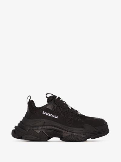 black Triple S sneakers