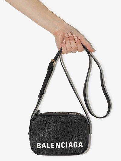 black ville XS leather camera bag