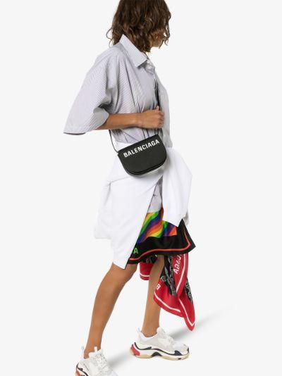black Ville XS leather cross body bag