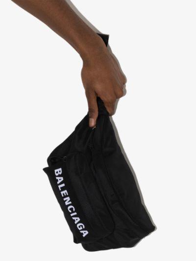 black Wheel cross body bag